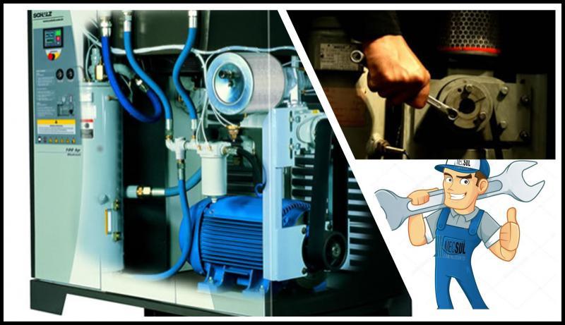 Compressor parafuso manutenção